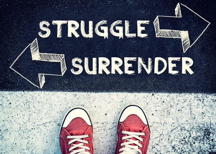 Power is Not the Key To Life: Surrender Is